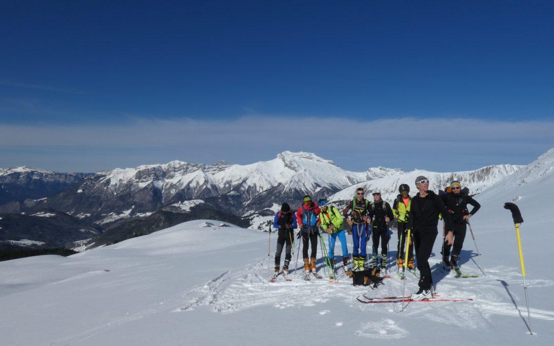 Sortie ski de randonnée pour les étudiants de BTS GPN 1ère année