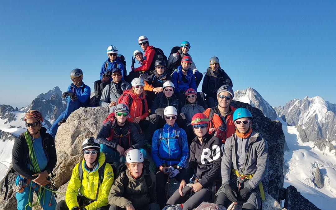 Dernière sortie de l'année scolaire dans le massif du Mont Blanc pour les Bac STAV 1/3