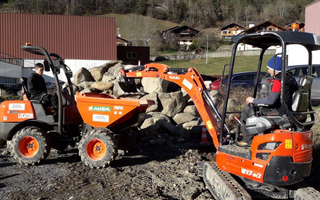 Formation à la conduite d'engins de chantier pour les Terminales Pros