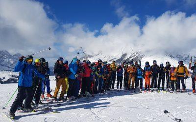 Ski à la Giettaz avant la période de stage
