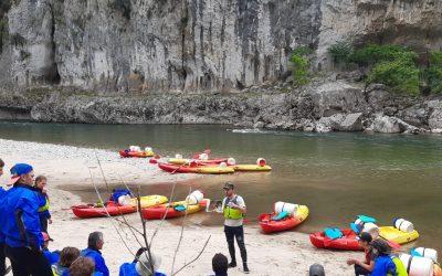 Les élèves de Terminale Pro à la découverte des sports de pleine nature en Ardèche
