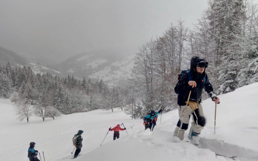 Ski de randonnée pour les élèves de Bac STAV 1 et 2