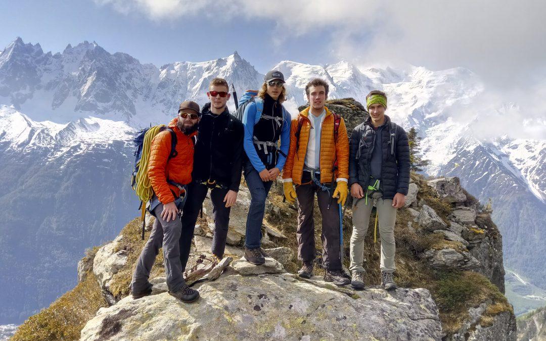 Escalade du côté du Brévent dans la vallée de Chamonix pour les étudiants de BTS GPN 1ère année