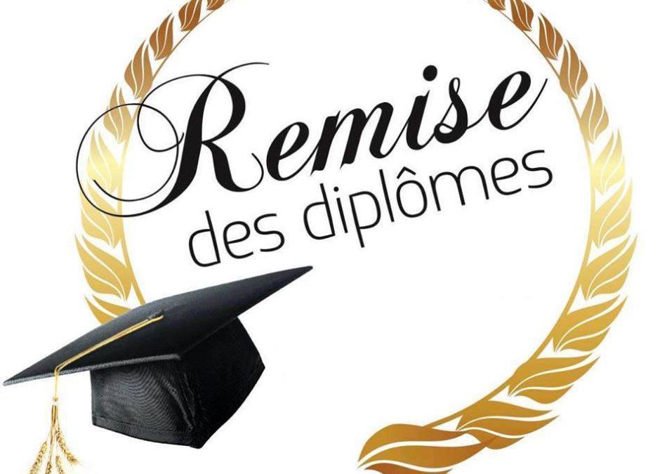 Remise des diplômes 2019