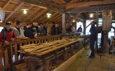 Visite de l'écomusée du bois pour les élèves de Bac STAV 1/3