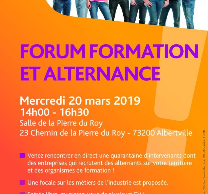 Forum formation et Alternance d'Albertville